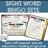 SIGHT WORD BINGO SET 1 * Special Education