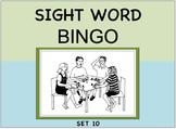 SIGHT WORD BINGO Set 10