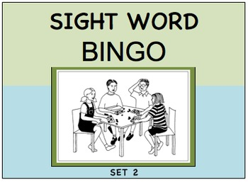 SIGHT WORD BINGO Set 2