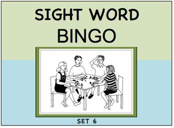 SIGHT WORD BINGO Set 6