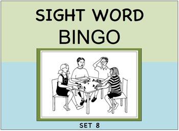 SIGHT WORD BINGO Set 8