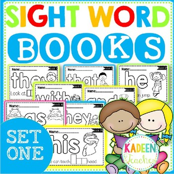 SIGHT WORD BOOKS-SET 1