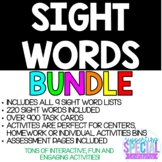 SIGHT WORD BUNDLE - OVER 200 SIGHT WORDS AND 900 TASK CARDS!