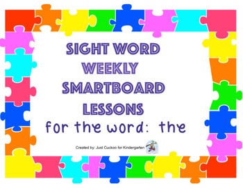 SIGHT WORD BUNDLE PACK # 1!  Focus words: the, can, I, see, is (SmartNotebook)