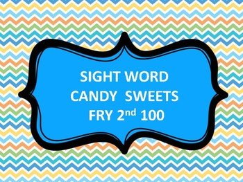 SIGHT WORD CANDY LAND FRY 2ND 100