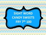 SIGHT WORD CANDY SWEETS LAND FRY 7th 100