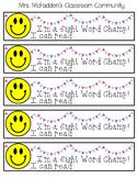 SIGHT WORD CHAMP! Brag Bracelets- Editable