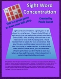 SIGHT WORD CONCENTRATION~The Systematic Way to Teach Sight Words