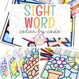 SIGHT WORD EDITABLE COLOR BY CODE
