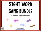 Sight Words Editable Games BUNDLE!
