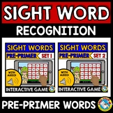 SIGHT WORD GAMES (DOLCH PRE- PRIMER WORDS INTERACTIVE GAME