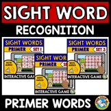SIGHT WORD GAMES (DOLCH PRIMER WORDS INTERACTIVE GAMES BUN