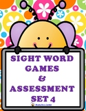 SIGHT WORD GAMES PLUS  ASSESSMENT SET 4
