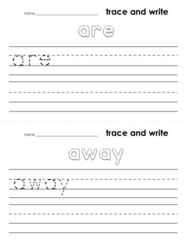 SIGHT WORD GAMES and Word Practice Mats