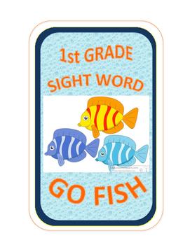 SIGHT WORD GO FISH - 1st Grade