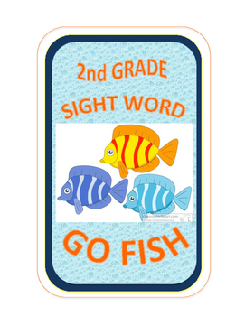 SIGHT WORD GO FISH - 2nd Grade