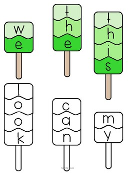 SIGHT WORD POPSICLE PUZZLES
