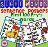 SIGHT WORD POSTERS FIRST 100 FRY'S WORDS