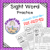 SIGHT WORD PRACTICE- Dolch Words- PRE-PRIMER