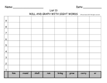 SIGHT WORD ROLL AND GRAPH BOARDS~The Systematic Way to Teach Sight Words