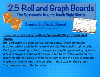SIGHT WORD ROLL AND GRAPH BOARDS~The Systematic Way to Tea
