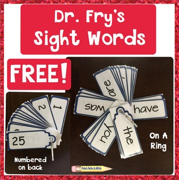 SIGHT WORD Reading & Writing Interventions:  Fry Words 1-25
