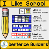 SIGHT WORD SENTENCE BUILDERS-Back to School (K-2/SPED/ELL)