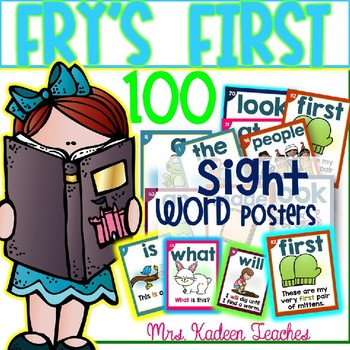 SIGHT WORD SENTENCE CARDS-FRY'S FIRST 100 STYLE 2
