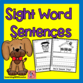 SIGHT WORD SENTENCES Cut and Paste