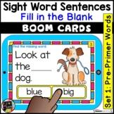 Pre Primer Sight Words Sentences   BOOM Cards   Digital Ta