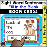 Pre Primer Sight Word Sentences    Digital BOOM Task Cards