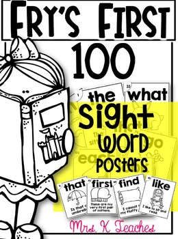 SIGHT WORD SENTENCE CARDS-FRY'S FIRST 100 STYLE 2 BLACK AND WHITE EDITION