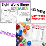 EDITABLE SIGHT WORD STAMP and BINGO BUNDLE