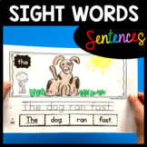 SIGHT WORD Sentence Builders  - High Frequency Words - Writing Center