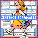 SIGHT WORD Sentence Scrambles: Fry Words 1-25, Handwriting Practice