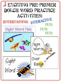 SIGHT WORD Super Pack 3 Awesome Practice Activities!