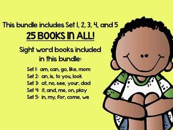 SIGHT WORD and HIGH FREQUENCY WORD BUNDLE: Sets 1-5 and 25 Books in All!