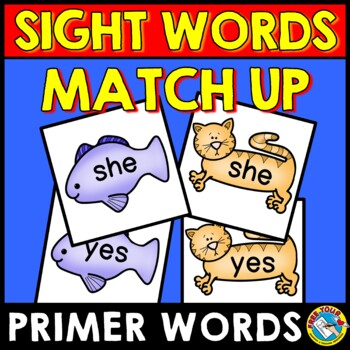 SIGHT WORDS GAME: SIGHT WORDS RECOGNITION MATCH UP GAME