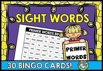 SIGHT WORDS PRACTICE: SIGHT WORDS GAME: SIGHT WORDS BINGO