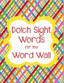SIGHT WORDS: Bright and Colorful Word Cards {Perfect for Word Wall or Games}