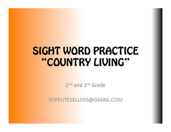 SIGHT WORDS - COUNTRY LIVING