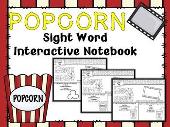 EDITABLE Sight Word Practice Interactive Journal- Movie Theme