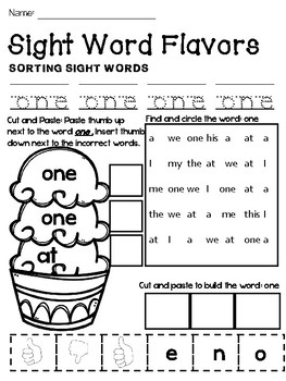 SIGHT WORDS Find it, Trace it and Built it Vol.2