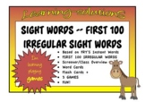 SIGHT WORDS - First 100 IRREGULAR SIGHT WORDS - Based on FRY'S - Complete
