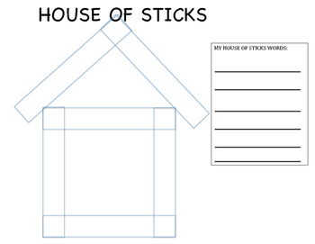 SIGHT WORDS HOUSE OF STICKS