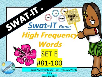 SIGHT WORDS - High Frequency words #81-100 GAME/FLASHCARDS
