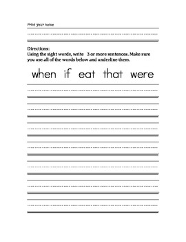SIGHT WORDS IN CONTEXT (100 WORDS)