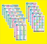SIGHT WORDS: MY FAVOURITE REFERENCE SIGHT WORDS CHARTS