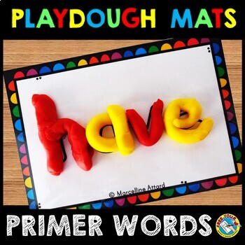 PLAYDOUGH MATS (SIGHT WORDS PRACTICE PRIMER)