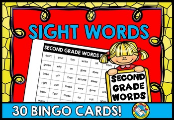 SIGHT WORDS BINGO GAME: DOLCH SECOND GRADE WORDS SIGHT WORDS PRACTICE ACTIVITIES